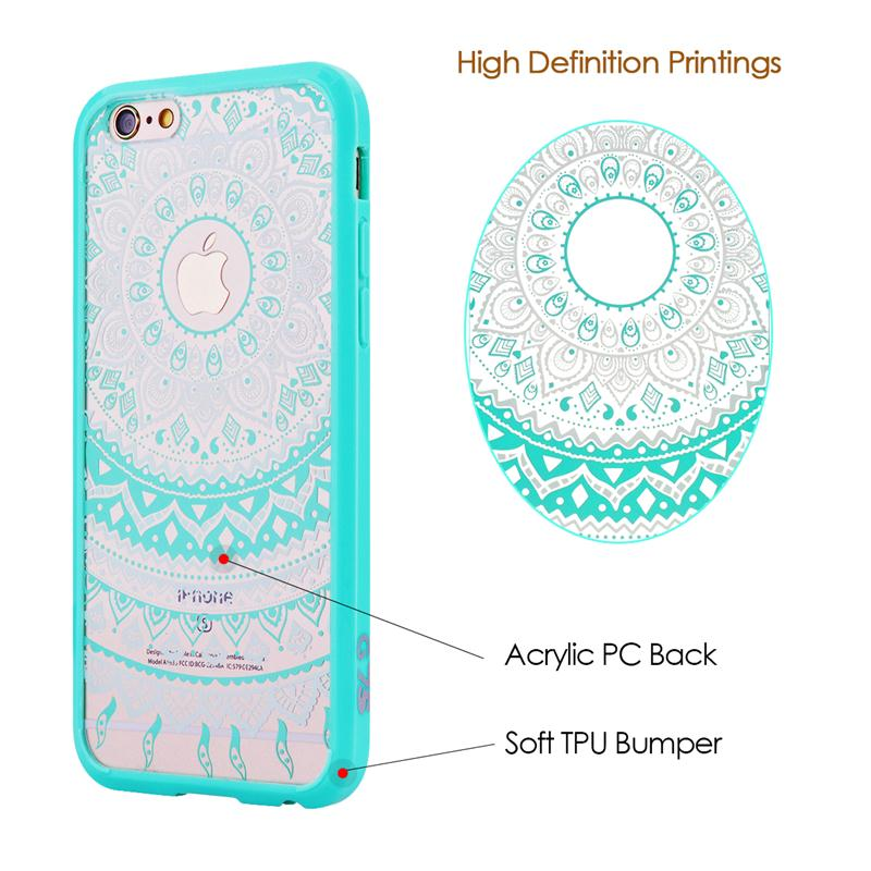 Lyxigt hårt PC-fodral för iPhone 6 6s Plus-fodral för Mandala - Reservdelar och tillbehör för mobiltelefoner - Foto 4