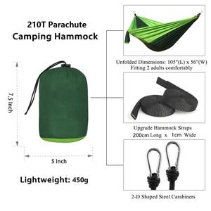 Image 4 - 1 2 personnes dormant Parachute hamac chaise Hamak jardin balançoire suspendu extérieur Hamacas Camping hamac