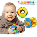 Gift for kids 3pcs a set 8cm little colorful grasp ball geometric round rattle high quality infant baby educational toy