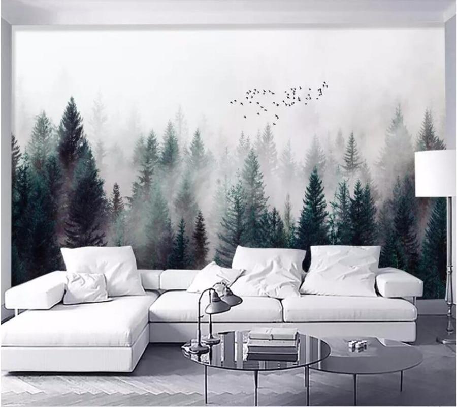 Papel pintado personalizado de foto de well Yu Retro Tropical bosque Tropical palmera hojas de plátano pared Mural café restaurante Fondo 3d papel pintado