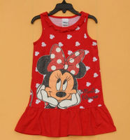Infant Baby Girls Minnie Mous E Sleeveless Nightdress Sleepwear Pajama Dress 9 12Month