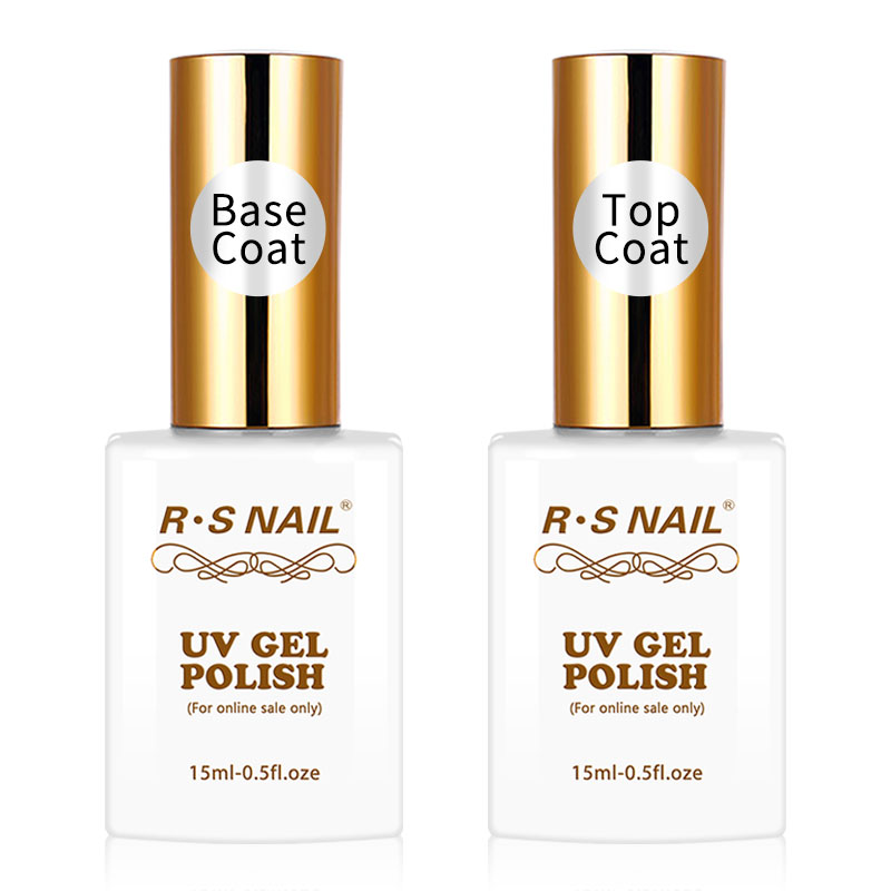 R.S 15ml Top en Base Coat Gel Nagellak Manicure Easy Soak Off Base - Nagel kunst