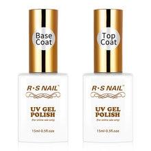 RS NAGEL 15ml Top und Basis Mantel Gel Nagellack Maniküre Einfach Soak Off primer für nägel UV LED nail art Transparent Gel Polnisch