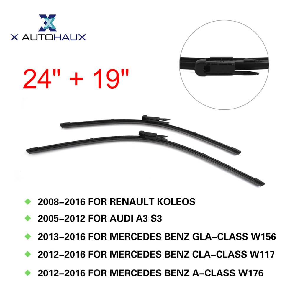 Renault Koleos 2012 2015 Alarm Wiring Diagrams Tsb Diagram X Autohaux 24 19 Exact Fit Windshield Car Wiper Blades For