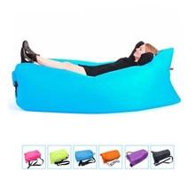Портативный пляжные спальные мешки открытый надувные Bone Мебель диван гамак спальный кемпинг воздуха, кровать нейлон ленивый воздуха диван Сумка 1 шт.