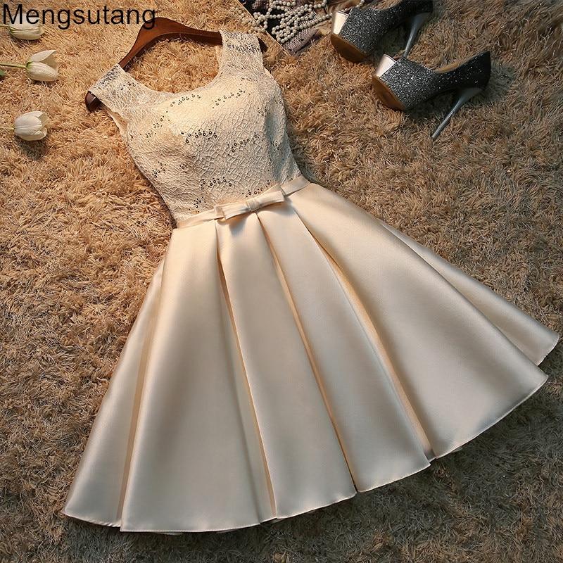 Robe de soirée 2019 dentelle courte taille plus robe de soirée à lacets robe de soirée robes de soirée robes robes 3 couleurs