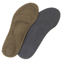 1 Pair Breathable Terrycloth Arch Support Insoles With Forefoot Heel For Men