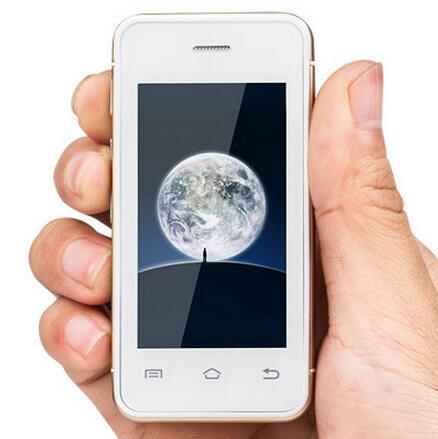 bilder für Original 3G gsm mini android 4.4 smartphone 2,4 zoll Dual core mtk6572 china handys smartphones i6 handy melrose s9 6 S