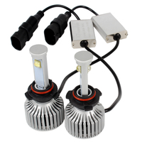 1 Pair 9006 LED Car Headlight Head Lighs Lamps All In One 6000K 3600LM Version Of