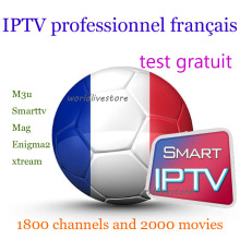 TV BOX android iptv subscription Europe French Arabic IPTV code 1800 channel 2000 films VOD neotv pro volka