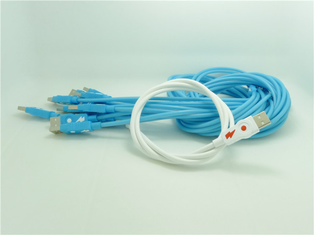 100pcs The new V8 cable TPE material micro data line high elastic line for Samsung mobile phone quick charge line