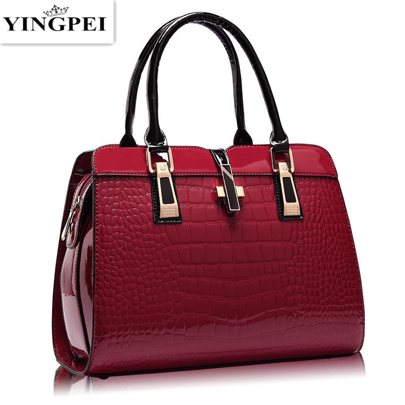 Yingpei Women Bag Vintage Casual Tote Top-handle Messenger Bags Shoulder Student Handbag Purse Wallet Leather 2018 New