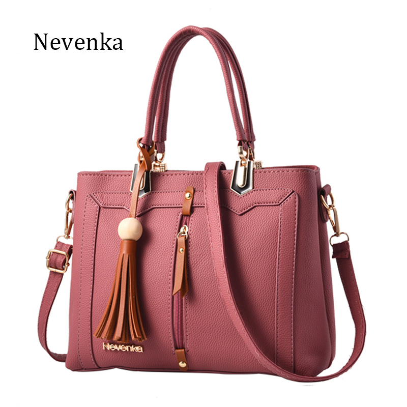 Nevenka Fashion Women Handbag Tote Crossbody Bag Female Top-handle Bags Famous Brands PU Leather Handbags Shoulder Bag Sac new fashion style belt top handle bags women bags handbags women famous brands oil skin solid soft female casual tote sac a main