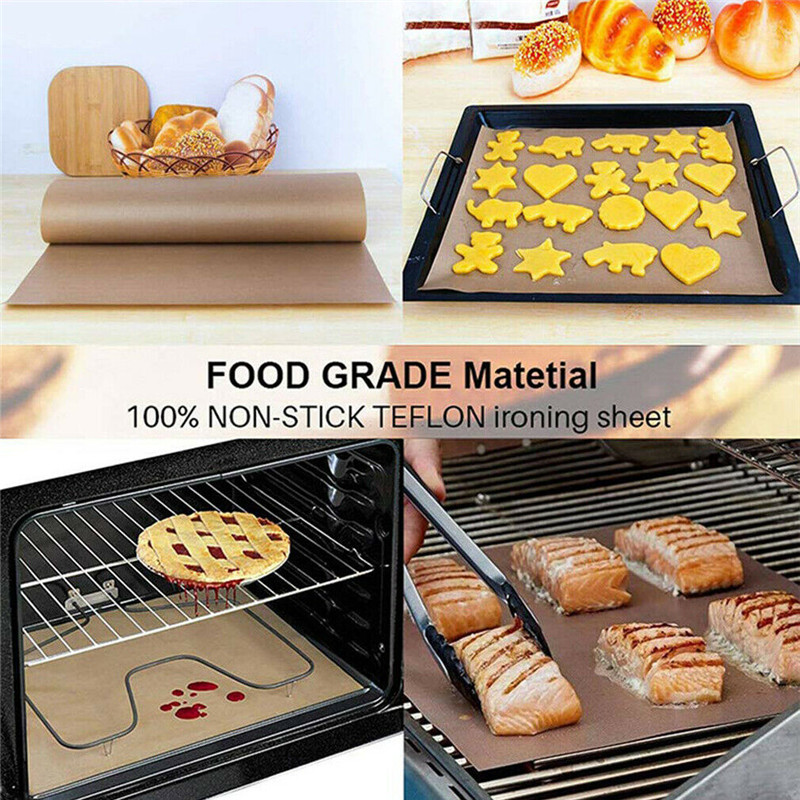 1 Pack Reusable Teflon Sheet Resistant Non-stick Bbq Baking Waterproof Mats Heat Press Craft Bake Meat Cloths Durable Washable Refreshing And Enriching The Saliva Bbq