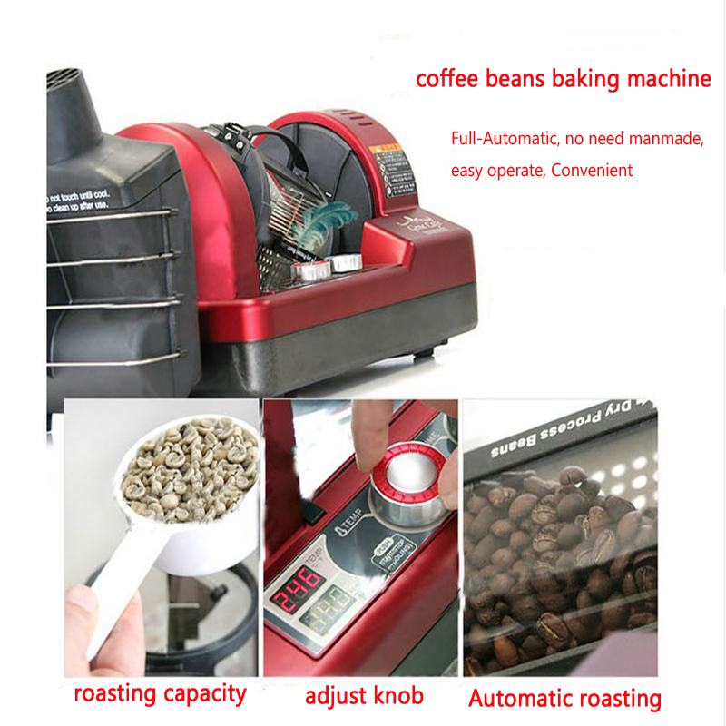 250g 3D Hot Air Coffee Roaster Coffee Roasting Machine/ Roasted Coffee Beans/Coffee Beans Baking Machine italy coffee beans italian flavor espresso beans fresh roasted 227 g bag women men tea