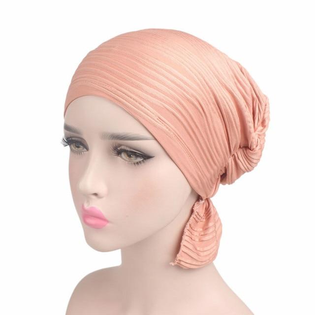 Sorban Hiasan Kepala untuk Pasien Kanker Musim Dingin Musim Gugur Stretch  Fashion Hot Sale Wanita Ruffle d5eb23c62a