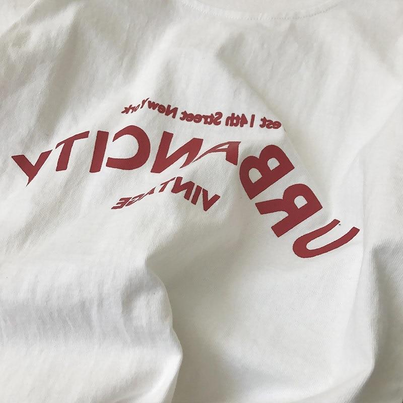 Harajuku kobiet t-shirty nowy 2019 lato zabawny napis druku Hip Hop luźny t-shirt dziewczyny Student Streetwear w stylu casual, damska topy Tees 6