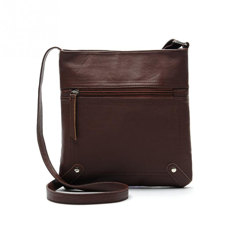 New Messenger Bags Females Bucket Bag Leather Crossbody Shoulder Bag