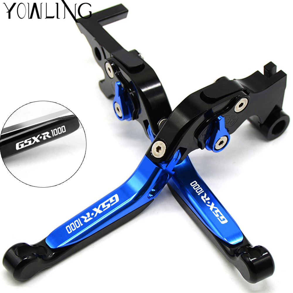 Motorcycle Adjustable Folding Brake Clutch Levers For Suzuki GSXR1000 K7 K8 GSXR 1000 GSX-R 1000 2007-2008 Motorbike Handbrake for ducati 748 750 900 1000 ss 996 998 s r st4 gt1000 red motorcycle adjustable folding extendable brake clutch levers