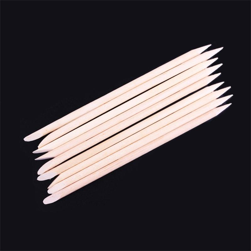 12pcs\lot Nail Art Cuticle Pusher Orange Wood Stick Cuticle Pusher Remover Manicure Pedicure Care Pusher Beauty Makeup Tools