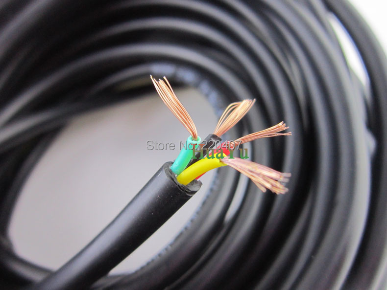 10m 4pins Polyvinyl chloride Sheathed cable 4 pins 4*0.3 RVV 300 ...