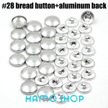 200sets/lot #28 Aluminum Bread Shape Round Fabric Covered Cloth Button Cover Metal Jewelry Accessories Free Shipping