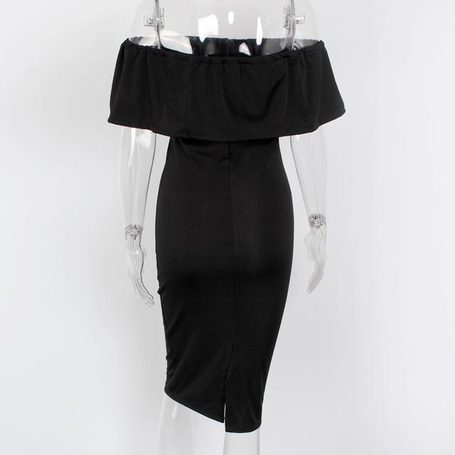 DeRuiLaDy Women Casual Maxi Dress Summer Fashion Off Shoulder Bodycon Dresses Womens Club Party Sexy Pencil Dress vestidos