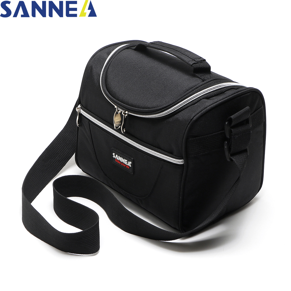 SANNE Simple and Stylish Thermo Lunch Bags Thermal Lunch Box for Kids Food bag Picnic Bag Handbag Cooler Insulated Lunch Box