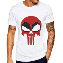 Mens T-Shirt Punisher Printed Short Sleeve 100 Cotton Man Clothing Tops Tee Hipster Funny Skull Male Poleras Hombre Men Shirt