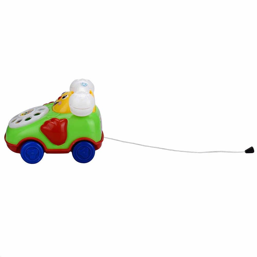 2019 新教育玩具漫画笑顔電話車発達キッズおもちゃギフトランダムな色とスタイル