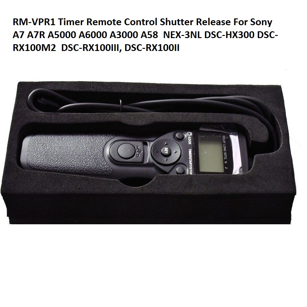 Lightdow RM-VPR1 LCD Wire Timer Remote Control Shutter Release For Sony A7 A7R A5000 A6000 A3000 A58 RX100III NEX-3NL, DSC-HX300 remote control suitable for sony rm gd005 kdl 32ex402 rm ed022 rm ed036 lcd tv