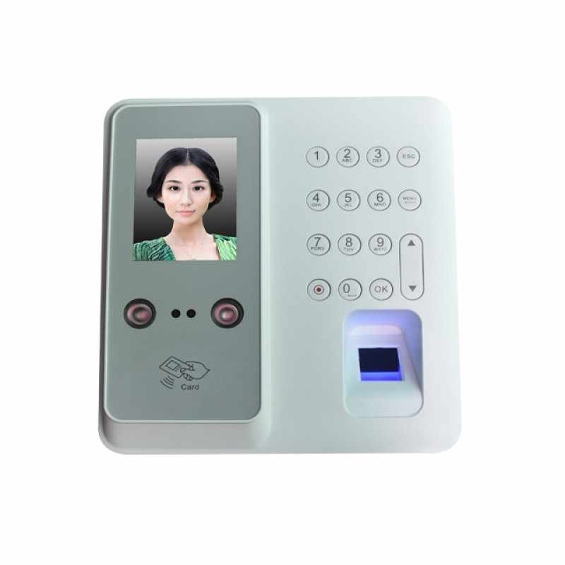 Face Fingerprint Recognition Time Attendance Terminal with Art Facial  Recognition Algorithm and Dual HD IR Camera in Dark Light