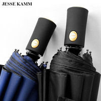 JESSEKAMM 2017 New Design High Quality Large Strong Windproof Compact Folding Rain Umbrella For Ladies Men
