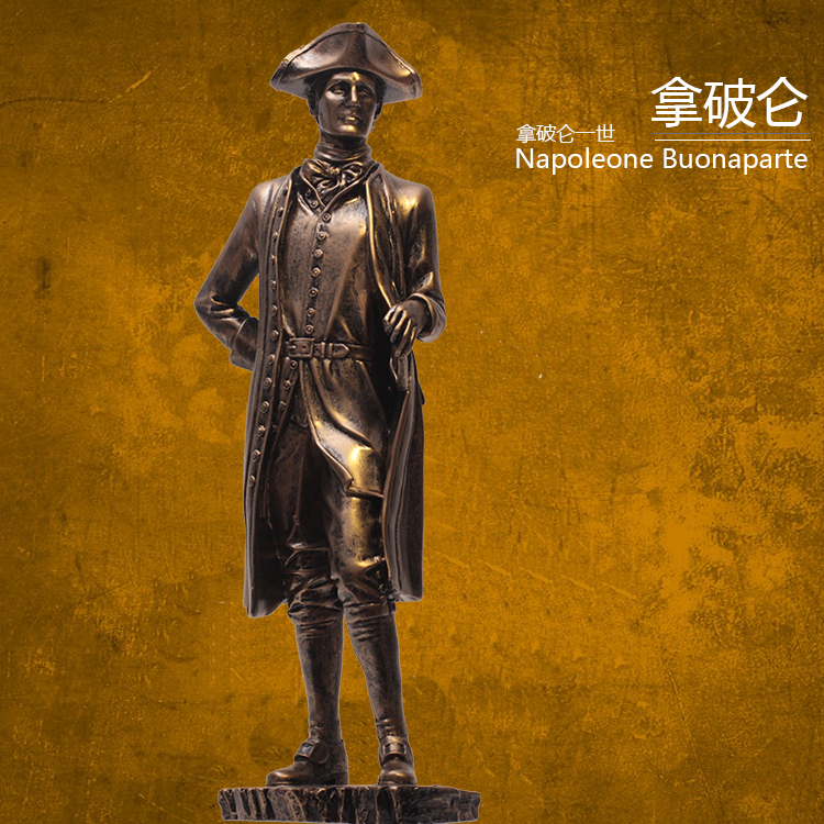 European vintage Napoleon resin statue Soldiers cavalry the leader the French emperor ornaments resiCrafts Character sculpture