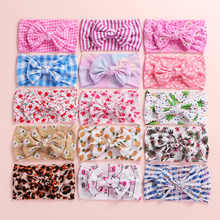 2019 New Christmas Tree Print Soft Nylon Headbands,Floral Print Knotted Hair Bow Headband,Children Girls Headwear 24pc/lot - DISCOUNT ITEM  10% OFF All Category