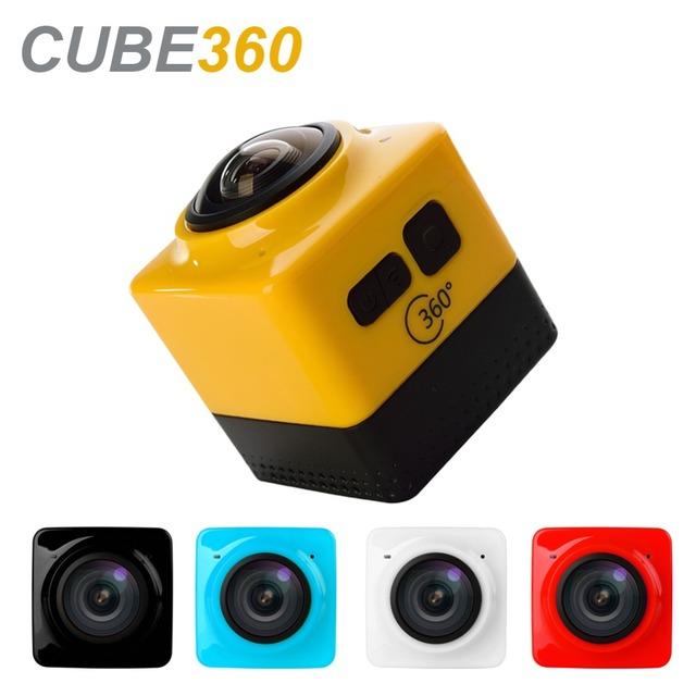 Câmera Ação Wi-fi Câmera portátil 360 360D 1280*1024 28fps Mini Camcorder Desporto Ao Ar Livre Câmera de Vídeo Grande-Angular 360 Câmera