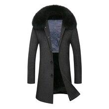 Extra Von Winter Großhandel Wolle Herren Fit Mantel Einreiher Männer New Graue Mantel Brand Kaschmir Männlichen 2018 Slim Lange Trenchcoat Windjacke T1cFKJl3