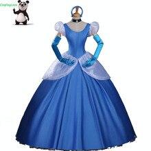 Косплей Любовь Золушка косплей темно-синий принцесса Золушка косплей костюм платье Взрослые детские костюмы на заказ