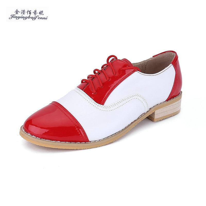 2018 Echtes Leder Flache Schuhe Für Frauen Usa Size13 = 27,5 Cm Handarbeit Farbe Passenden Vintage Oxford Schuhe Mokassins