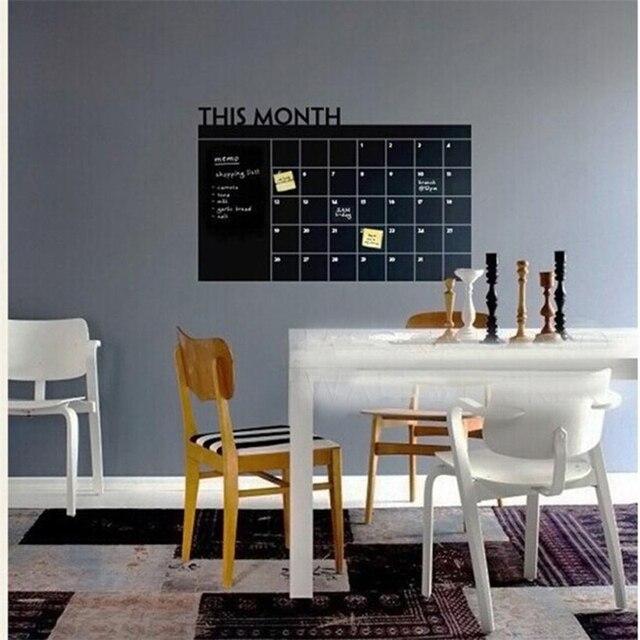 Month Plan Calendar Chalkboard Blackboard Vinyl Wall Sticker Office Family  X30329