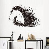Darmowa Wysyłka Piękny Koń Naklejki Ścienne Home Decor Sypialnia Wymienny Art Vinyl Naklejki Hurtownie Zwierzęta Kreatywnych Naklejki