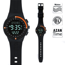 Muslim Prayer Watch with Azan Time and Prayer Alarm and Qiblah Direction Drop shipping