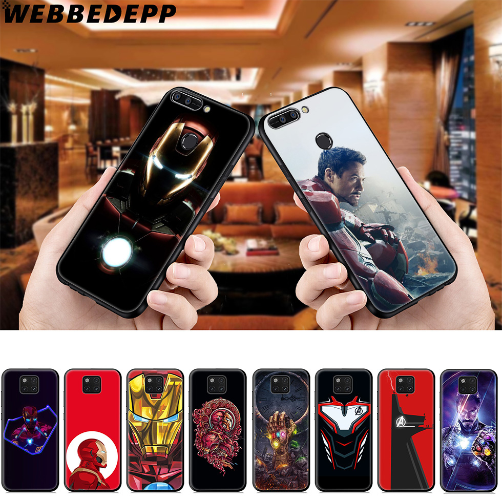 WEBBEDEPP Marvel Iron Man Soft Case for Huawei Mate Honor 20 6A 7A 7C 7X 8 9 9X 10 View 20 10 Lite Pro Mate 30 20 Lite Pro image