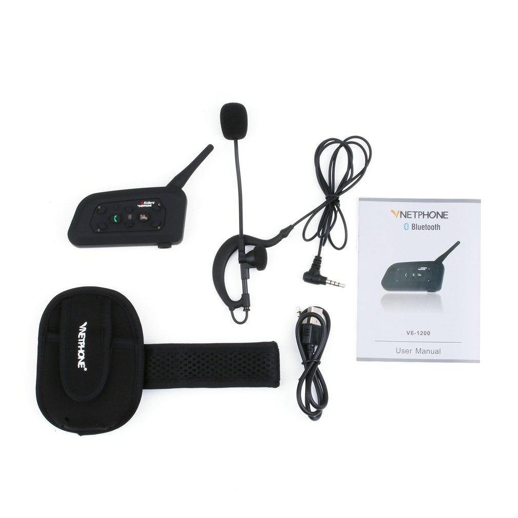 V6C 1200M Intercom Motorbike Headset Interphone Aerial Walkie Talkie
