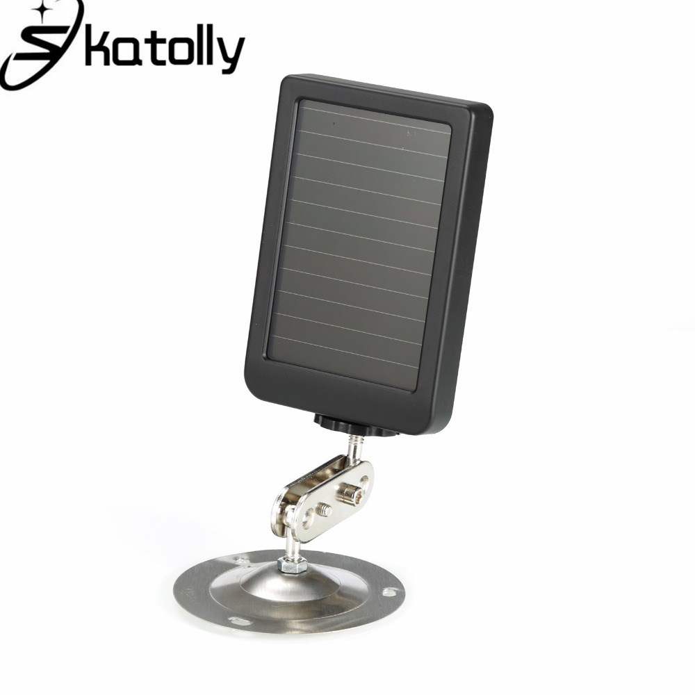 Skatolly Solar Panel Charger New EU/US Plug For HC Type Battery Power Bank Hunting Cameras HC300 HC500 Series Scouting Camera