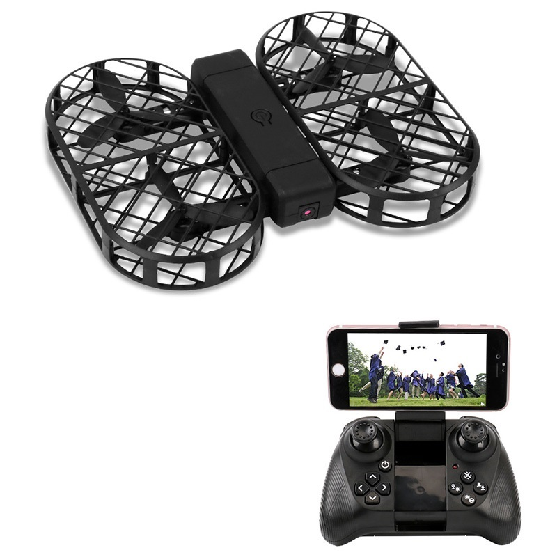 RC Quadcopter Foldable Drone With Camera Hd 2MP 1080P FPV WiFi Control 2.4G 4CH 6 Axis Gyro With Bag Photo Video Dwi Dowellin D7 l6052w wifi fpv rc drone with hd camera 2 4g 4ch 6 axis gyro rc quadcopter with led light realtime drone remote control toy gift