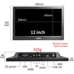 """Image 5 - 12"""" inch LCD Portable HDMI Monitor for Macbook Pro VGA Interface 1920x1080 Gaming Display For Home Security System PS4 Xbox360"""