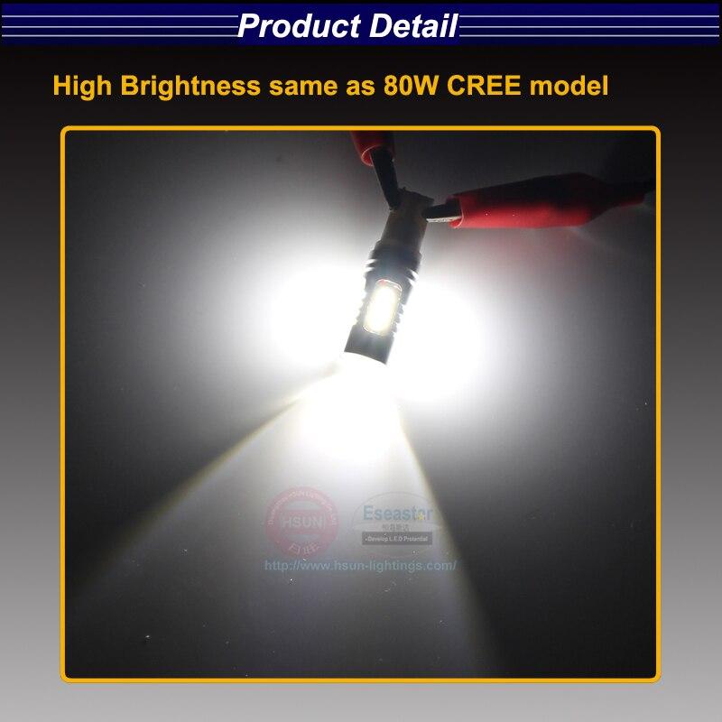 HSUN 2pcs H3C 64146BC High Power 2323 Chips LED Car truck Fog Light DRL  BULB LAMP 12V Fog Light Auto Turn Singnal Lamp Bulb