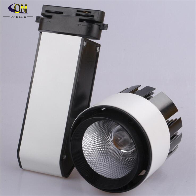 designer track lighting. led track light cob 30w 2850lm ac85265v rail led spot clothing store designer lighting k