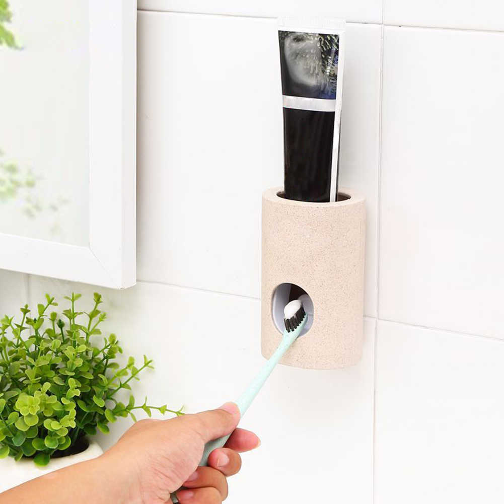 Automatyczny dozownik pasty do zębów pyłoszczelna szczoteczka do zębów uchwyt zestaw do montażu na ścianie wyciskacz do zębów automatyczny dozownik pasty do zębów uchwyt